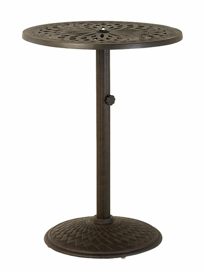 """The Macyn Collection Commercial Cast Aluminum 30"""" Round Pedestal Bar HeightTable"""
