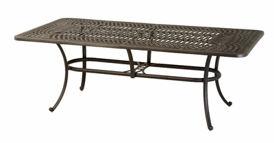 "The Macyn Collection Commercial Cast Aluminum 42"" x 84"" Rectangle Dining Table"