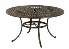 "The Macyn Collection Commercial Cast Aluminum 54"" Round Dining Table With Inlaid Lazy Susan"
