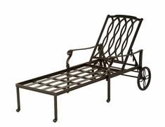 The Macyn Collection Commercial Cast Aluminum Chaise Lounge