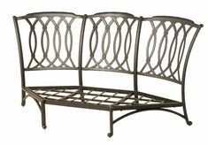 The Macyn Collection Commercial Cast Aluminum Corner Club Chair