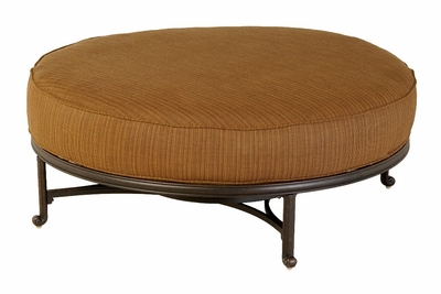 The Macyn Collection Commercial Cast Aluminum Round Ottoman