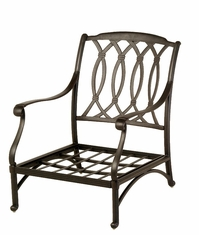 The Macyn Collection Commercial Cast Aluminum Stationary Club Chair