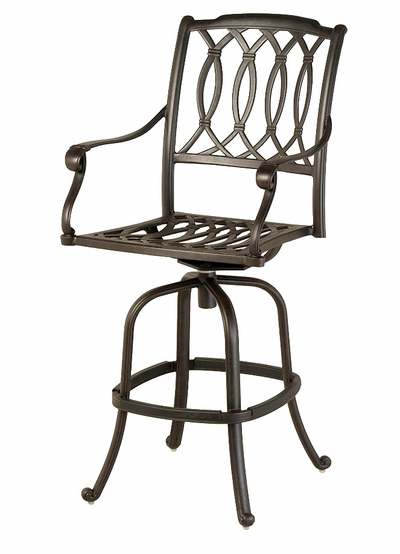 The Macyn Collection Commercial Cast Aluminum Swivel Bar Height Chair