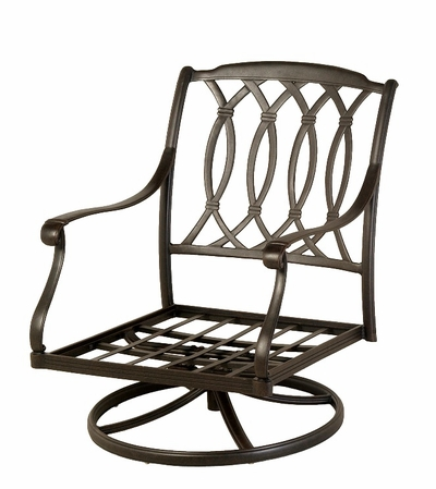 The Macyn Collection Commercial Cast Aluminum Swivel Club Chair