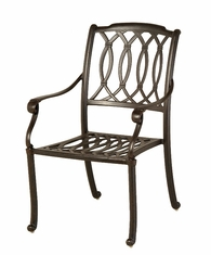 The Macyn Collection Commercial Cast Aluminum Stationary Dining Chair
