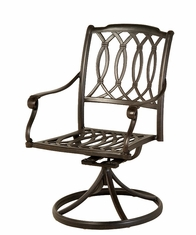 The Macyn Collection Commercial Cast Aluminum Swivel Dining Chair