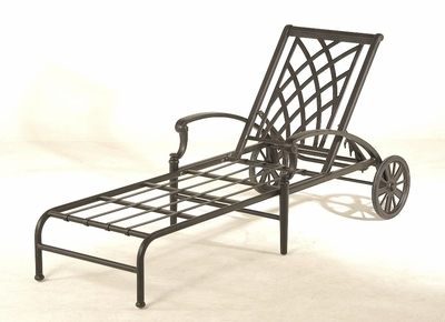 The Merisol Collection Commercial Cast Aluminum Chaise Lounge