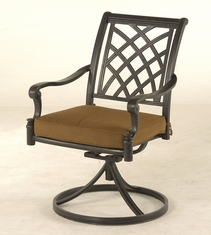 The Merisol Collection Commercial Cast Aluminum Swivel Dining Chair
