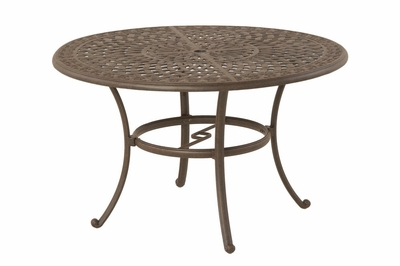 "The Mila Collection Commercial Cast Aluminum 48"" Round Dining Table"
