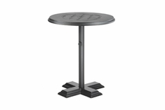"The Mimosa Collection Commercial Cast Aluminum 30"" Round Pedestal Bar Height Table"