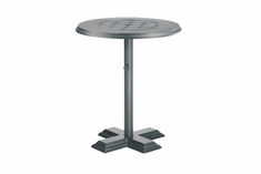 "The Mimosa Collection Commercial Cast Aluminum 36"" Round Pedestal Bar Height Table"