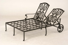 The Molina Collection Commercial Cast Aluminum Double Chaise Lounge