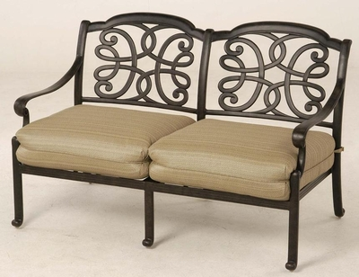 The Molina Collection Commercial Cast Aluminum Loveseat