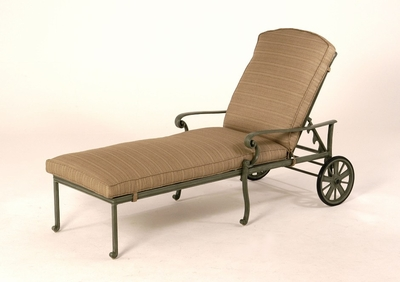 The Molina Collection Commercial Cast Aluminum Single Chaise Lounge