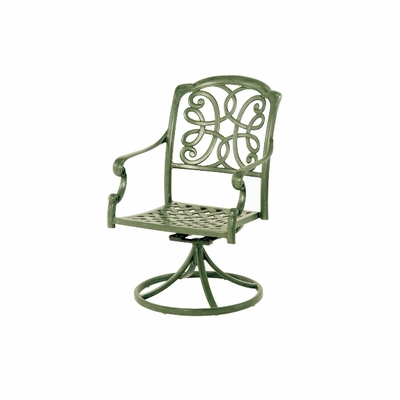 The Molina Collection Commercial Cast Aluminum Swivel Dining Chair