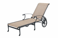 The Montego Collection Commercial Cast Aluminum Sling Chaise Lounge