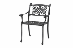 The Montego Collection Commercial Cast Aluminum Stationary Dining Chair