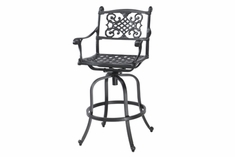The Montego Collection Commercial Cast Aluminum Swivel Bar Height Chair