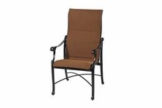 The Montego Collection Commercial Padded Sling High Back Stationary Dining Chair