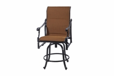 The Montego Collection Commercial Padded Sling Swivel Counter Height Chair