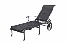 The Montego Collection Commercial Wicker Chaise Lounge