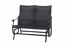 The Montego Collection Commercial Wicker High Back Loveseat Glider