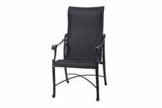 The Montego Collection Commercial Wicker High Back Stationary Dining Chair
