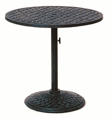 "The Nassau Collection Commercial Cast Aluminum 30"" Round Pedestal Table"