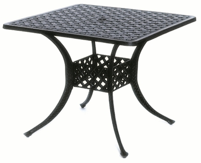 """The Nassau Collection Commercial Cast Aluminum 36"""" Square Dining Table"""