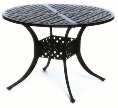 "The Nassau Collection Commercial Cast Aluminum 42"" Round Dining Table"