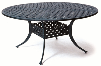 """The Nassau Collection Commercial Cast Aluminum 60"""" Round Dining Table"""