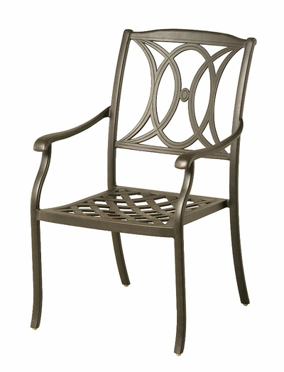 The Newbury Collection Commercial Cast Aluminum Stationary Dining Chair