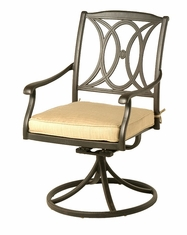 The Newbury Collection Commercial Cast Aluminum Swivel Dining Chair