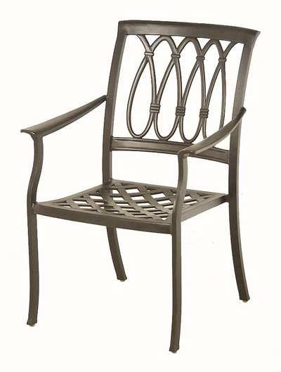 The Norris Collection Commercial Cast Aluminum Stationary Dining Chair