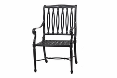 The Oceana Collection Commercial Cast Aluminum Stationary Dining Chair