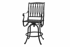 The Oceana Collection Commercial Cast Aluminum Swivel Bar Height Chair