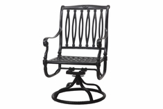 The Oceana Collection Commercial Cast Aluminum Swivel Dining Chair