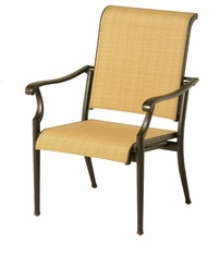 The Olivia Collection Commercial Cast Aluminum Sling Stationary Dining Chair