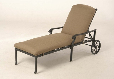 The Palazzo Collection Commercial Cast Aluminum Chaise Lounge
