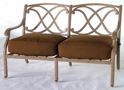 The Palazzo Collection Commercial Cast Aluminum Loveseat