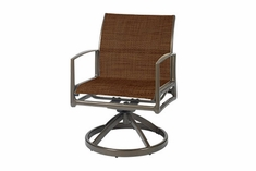 The Paradise Collection Commercial Cast Aluminum Padded Sling Swivel Dining Chair