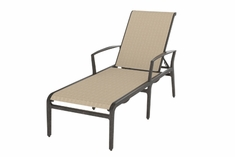 The Paradise Collection Commercial Cast Aluminum Sling Chaise Lounge