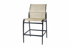 The Paradise Collection Commercial Cast Aluminum Sling Stationary Bar Height Chair