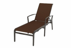 The Paradise Collection Commercial Padded Sling Cast Aluminum Chaise Lounge