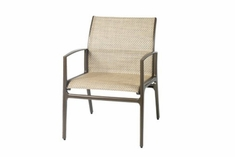 The Paradise Collection Commercial Cast Aluminum Sling Stationary Dining Chair
