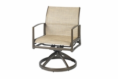 The Paradise Collection Commercial Cast Aluminum Sling Swivel Dining Chair