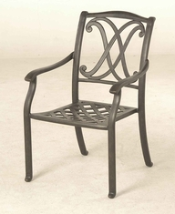 The Palazzo Collection Commerical Cast Aluminum Stationary Dining Chair