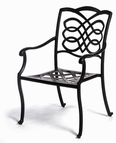 The Piza Collection Commercial Cast Aluminum Stationary Dining Chair