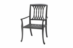 The Raven Collection Commercial Cast Aluminum Stationary Dining Chair